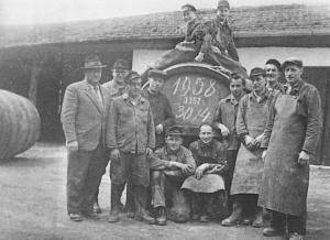 Taufkirchner Brauerei Mitarbeiter 1958