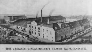 Zeichnung Taufkirchner Brauhaus 1928